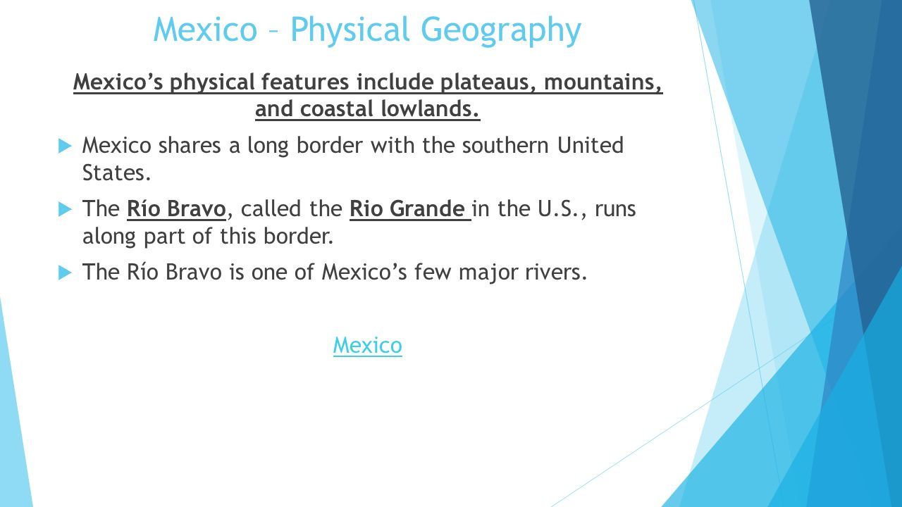 PreAP Geography Chapter  Mexico Central America  The - Us physical map central lowlands