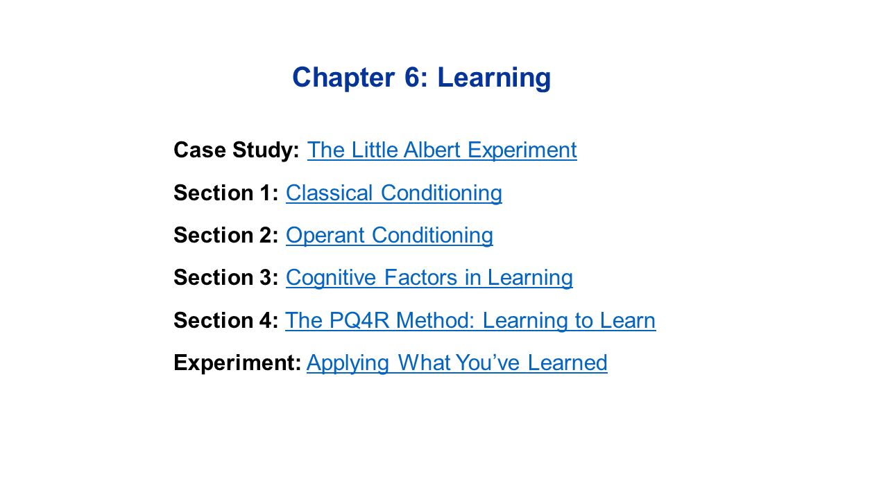 Worksheets Classical Conditioning Worksheet chapter 6 learning case study the little albert experimentthe 1 chapter