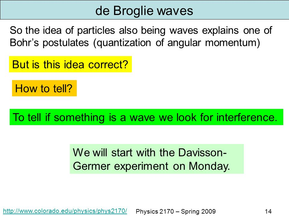 division germer experiment