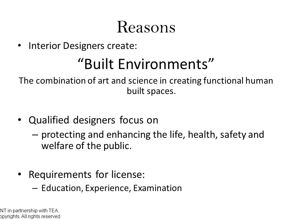 The Three Eus Interior Design License Unt In With What Do You Need To Become A Designer