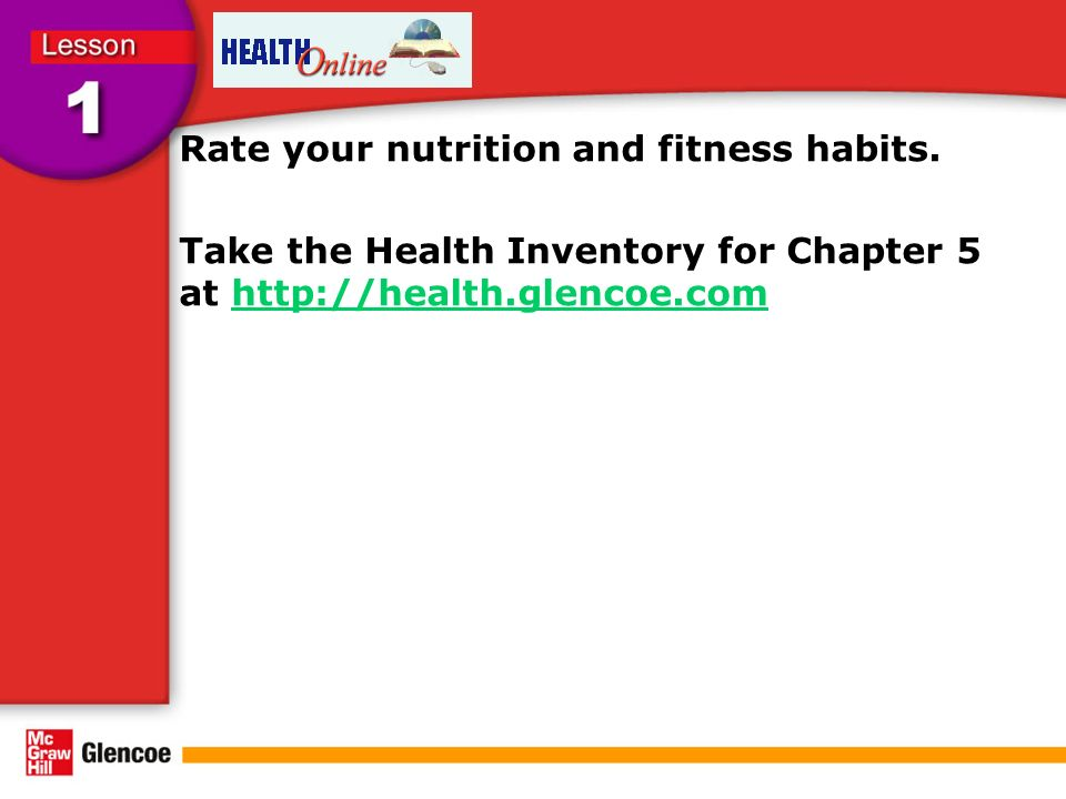 Rate your nutrition and fitness habits.