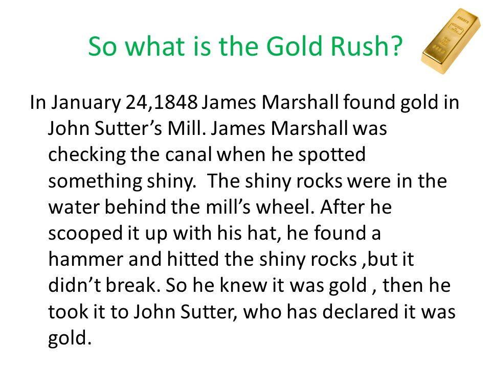 John Sutter And James Marshall