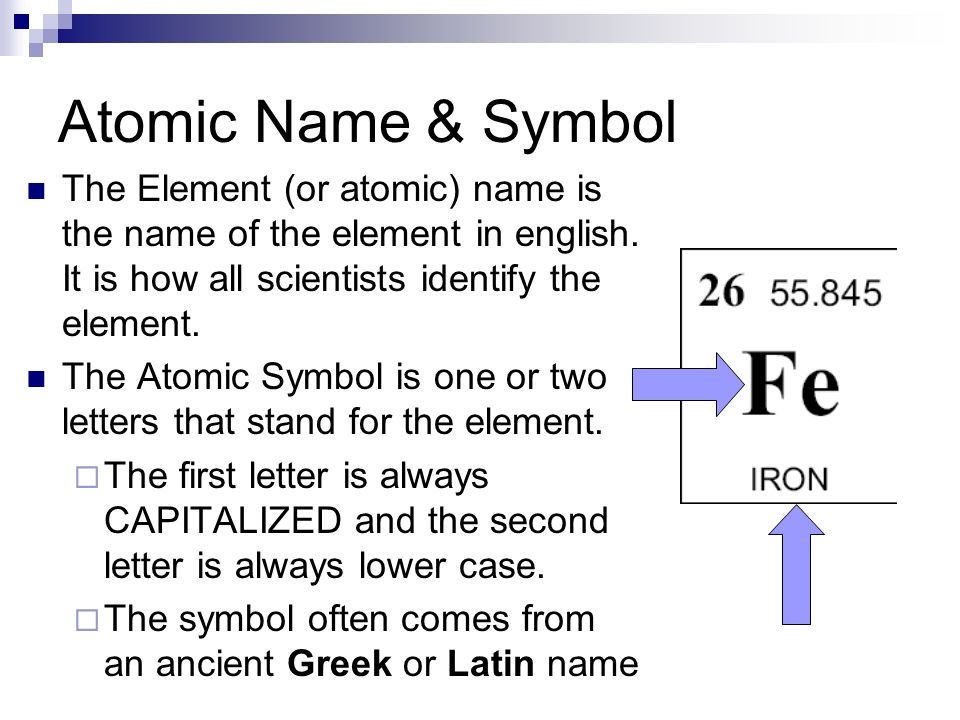 atomic name symbol the element or atomic name is the name of the - Periodic Table Of Elements Greek Names