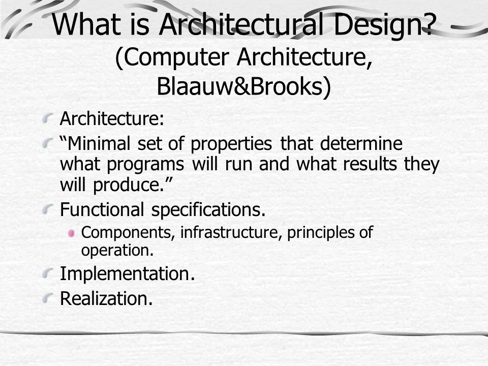 What is Architectural Design.