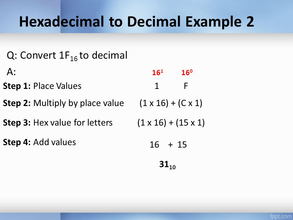 assignment hexadecimal and following decimal numbers Complete the following decimal-to-hexadecimal number conversions if available, use the base conversion feature of your calculator to check your answers.