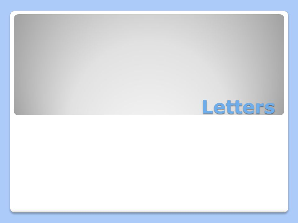 double spaced letter