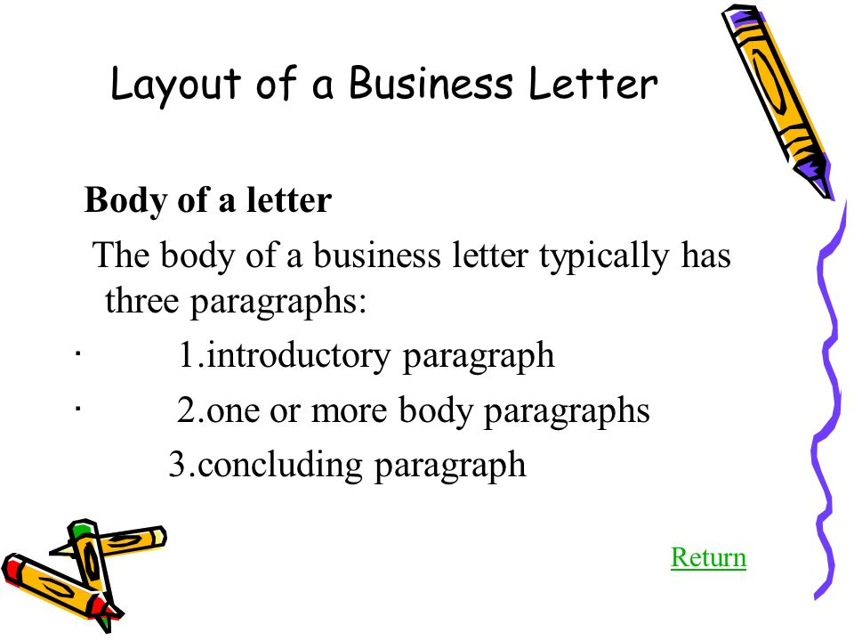 business letters 1