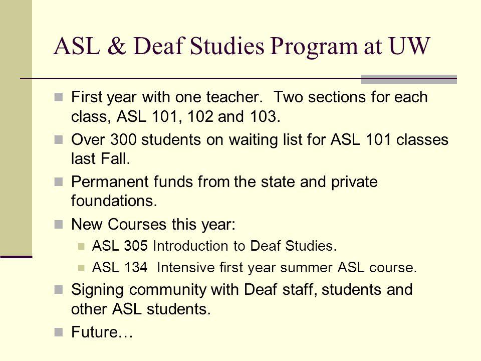 deaf studies universities