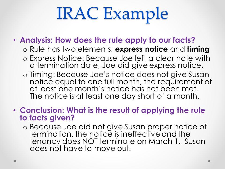 irac example