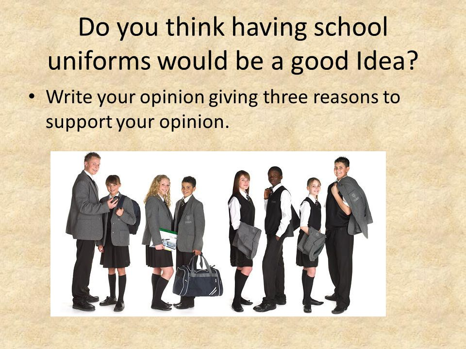 A lead for an essay about uniforms