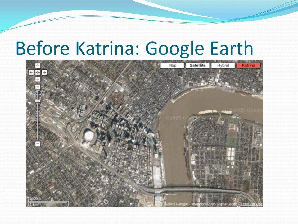 Before Katrina: Google Earth