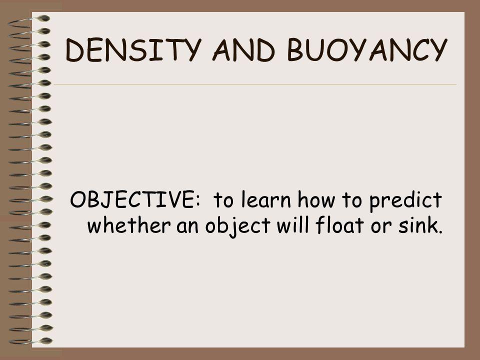 buoyancy and density activity