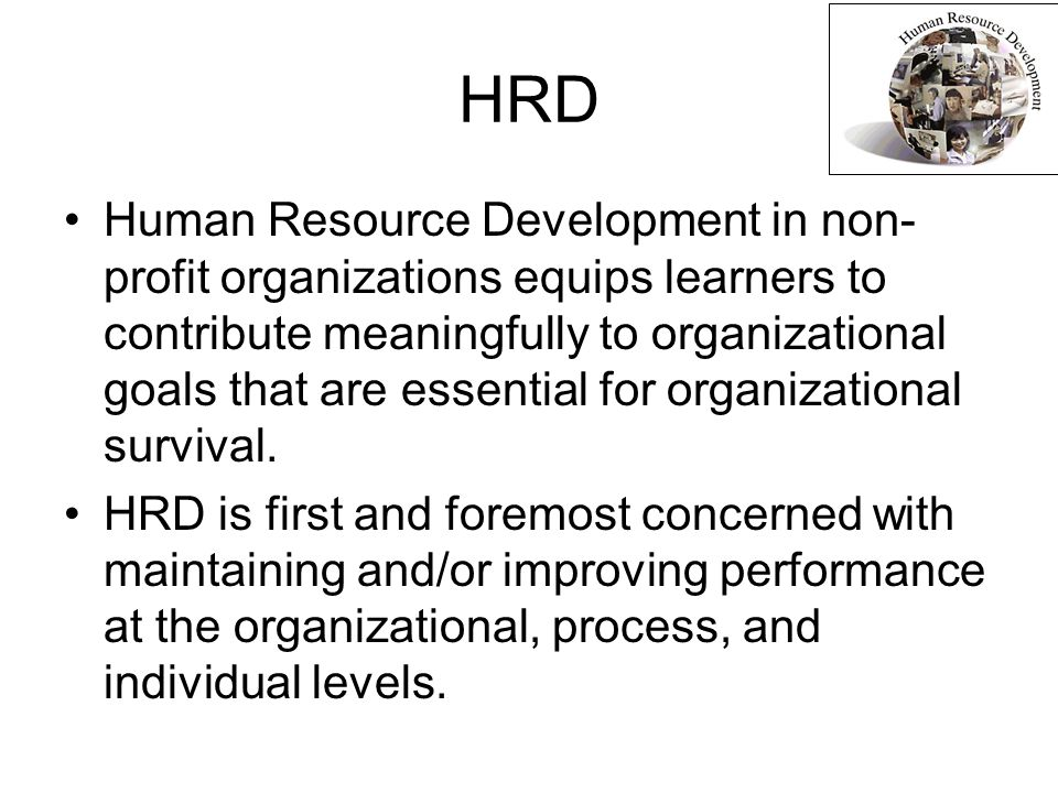 human resource development hrd provides a An organization or hr department to provide its hrd human resource management (hrm) has many functions human resource development (hrd) is just.