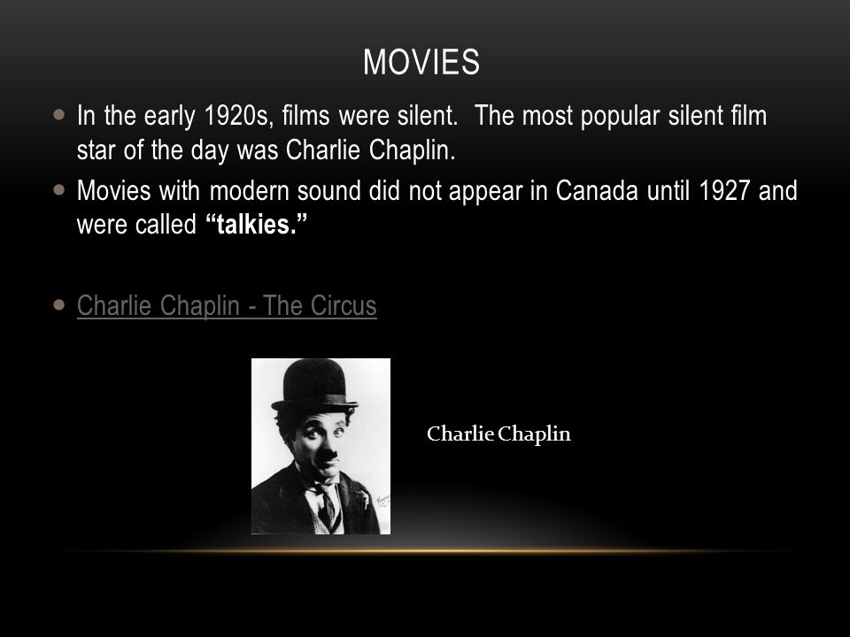 Why were movies big in the 1920s?