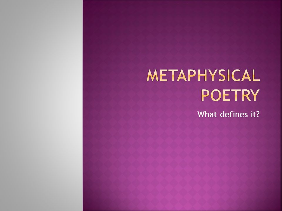 metaphysical poets essay