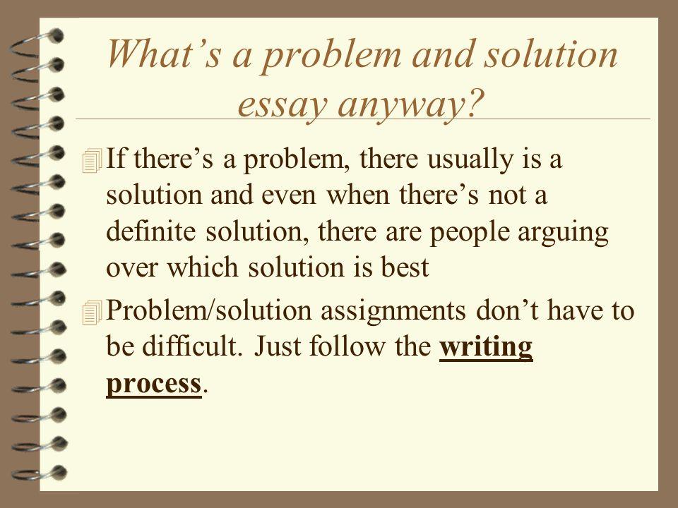 Topics For Problem Solution Essays