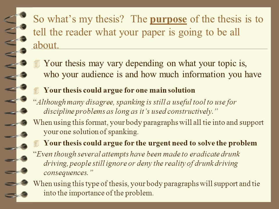 types of thesis papers Write my paper for me it does not matter what size and complexity you need your thesis please type in the topic of your assignment.