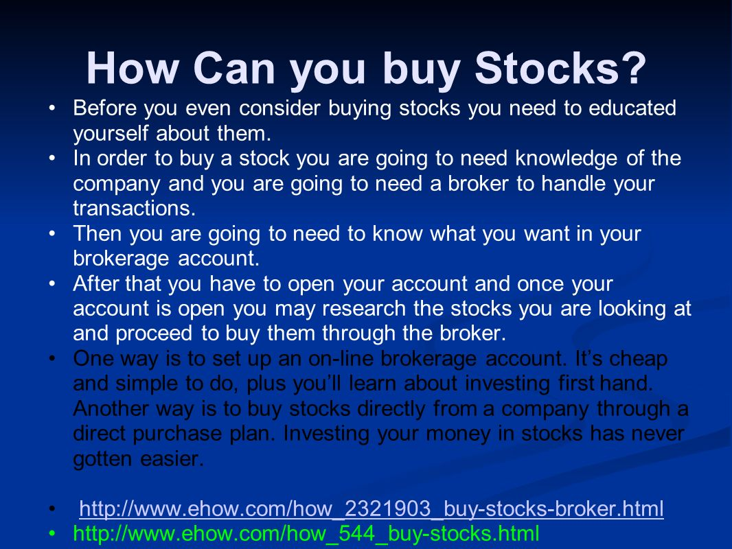How Can you buy Stocks.