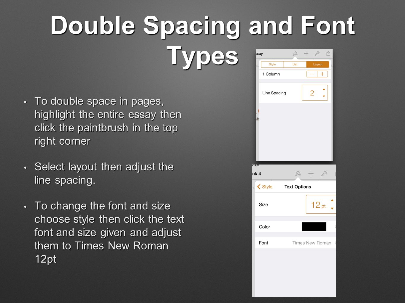 Pages color highlight - Double Spacing And Font Types To Double Space In Pages Highlight The Entire Essay Then