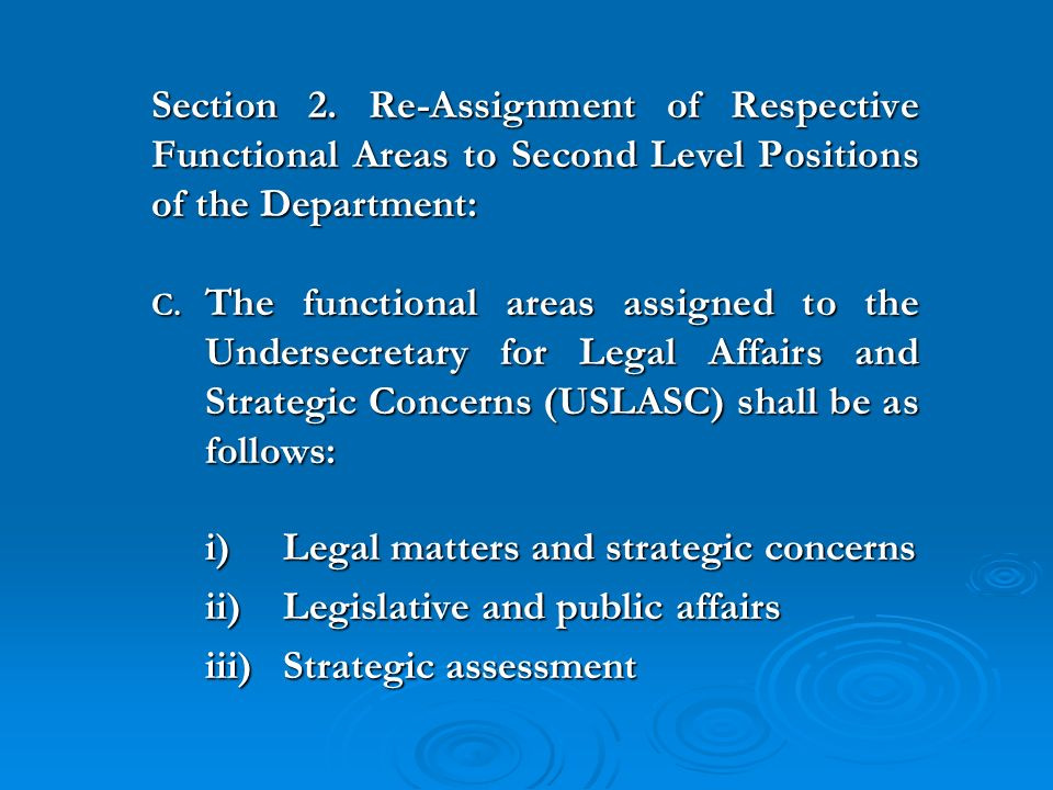 Administrative order of assignment