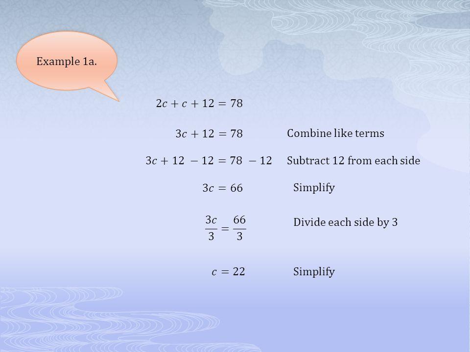 2.3 Solving Multi- Step Equations. Solving Multi-Steps Equations 1 ...