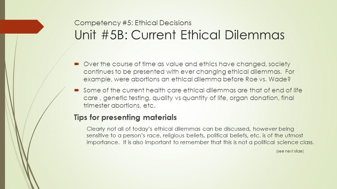 an analysis of ethical dilemmas