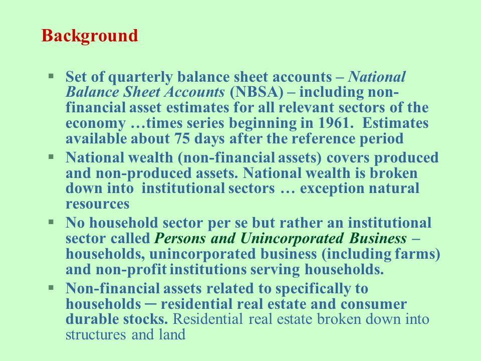 national balance sheet