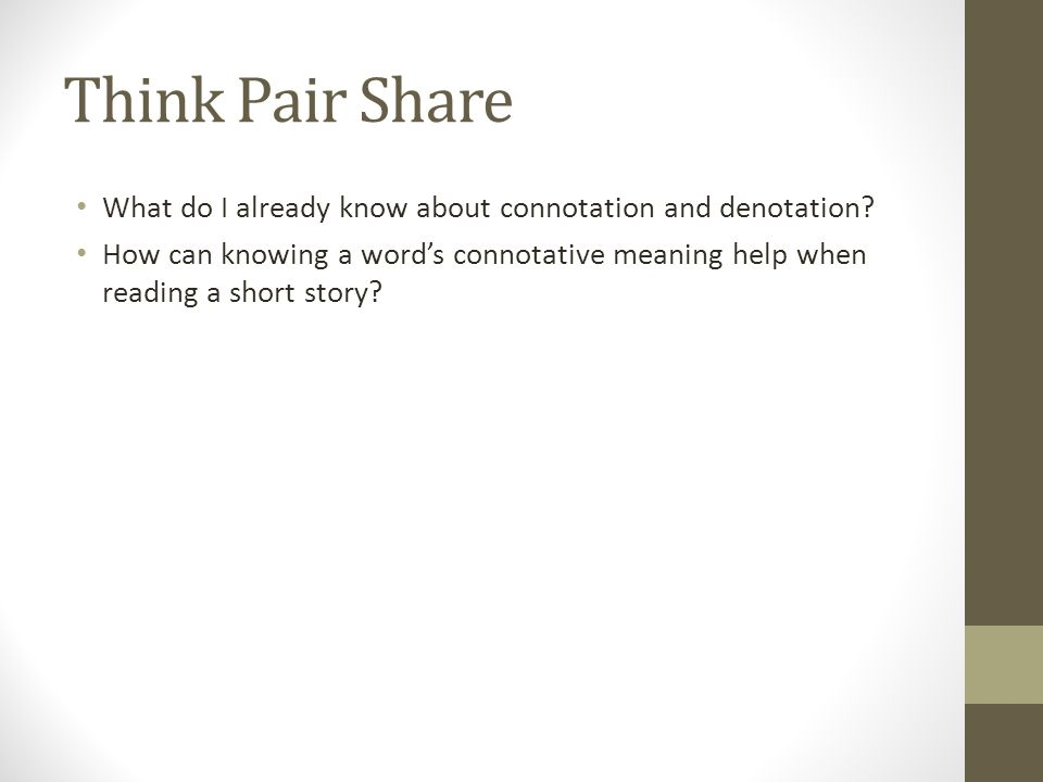 What do I already know about connotation and denotation.