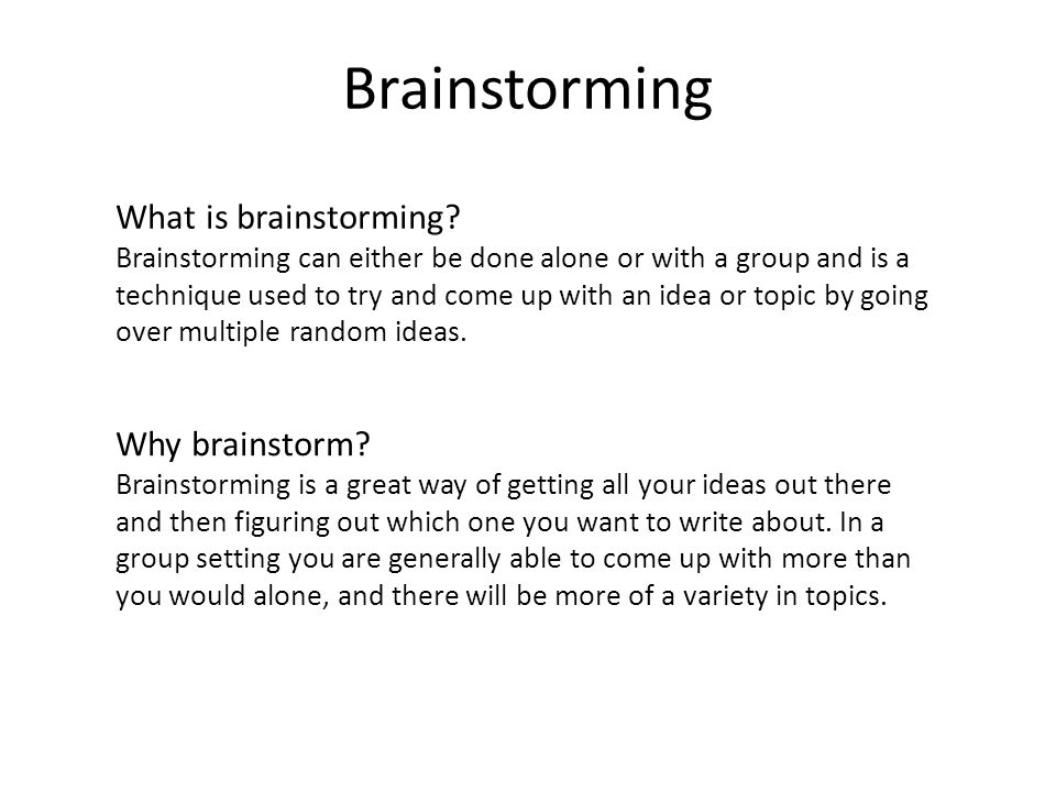 Dissertation On Brainstorming