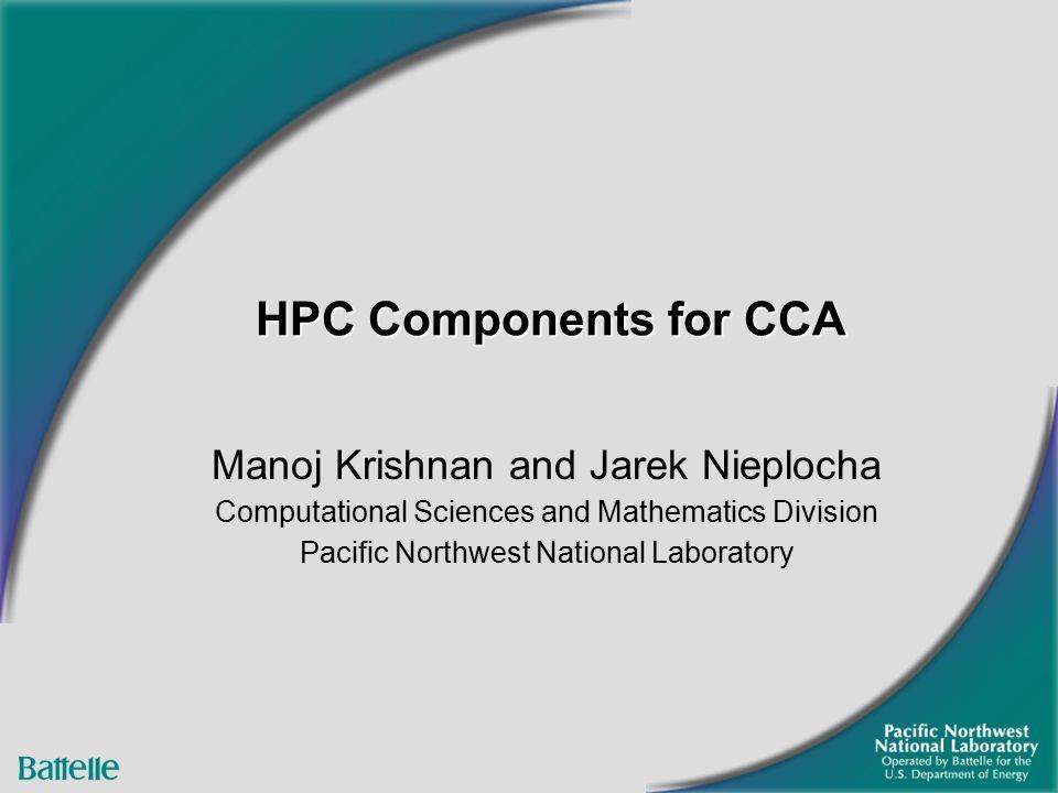 hpc components for cca manoj krishnan and jarek nieplocha, Presentation templates