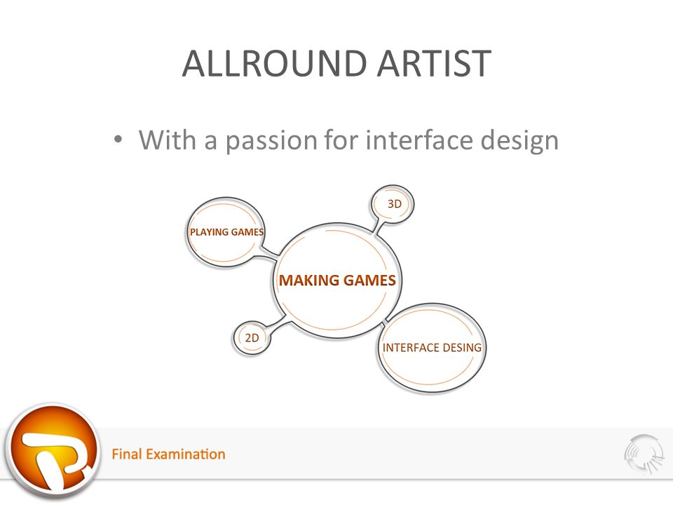 ALLROUND ARTIST With a passion for interface design
