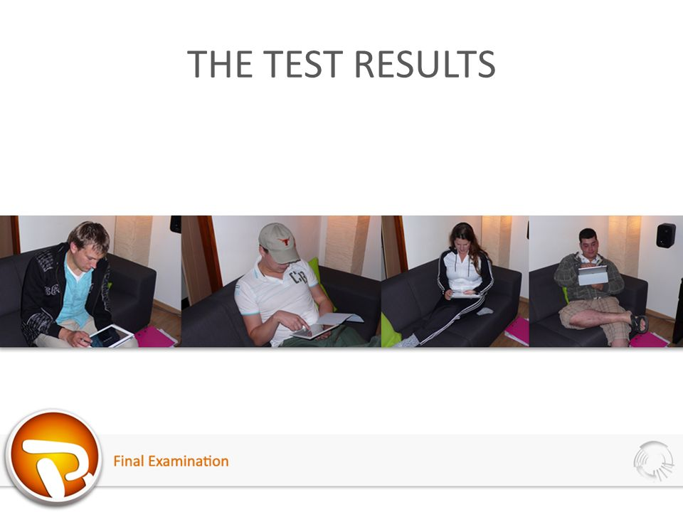 THE TEST RESULTS