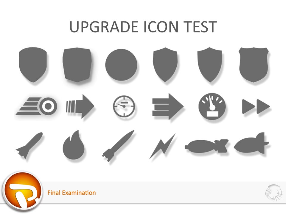 UPGRADE ICON TEST