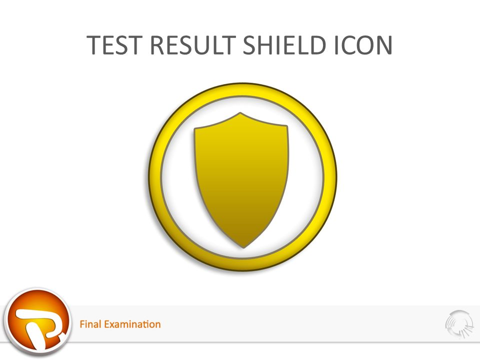 TEST RESULT SHIELD ICON