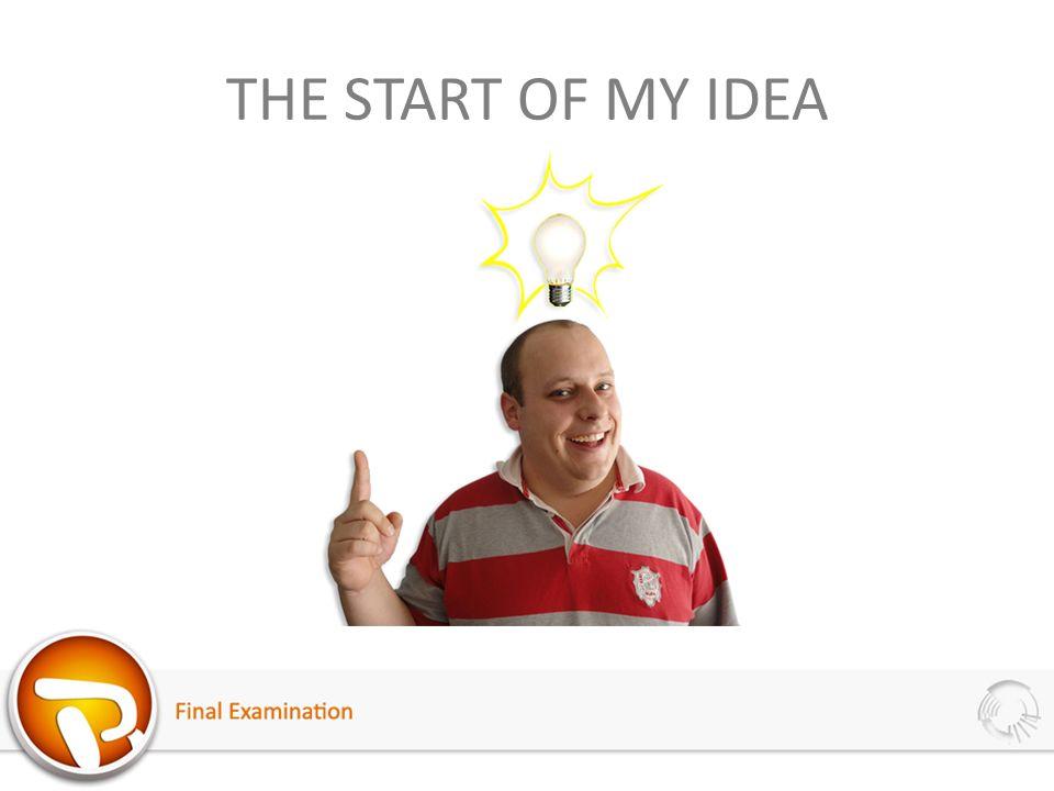 THE START OF MY IDEA