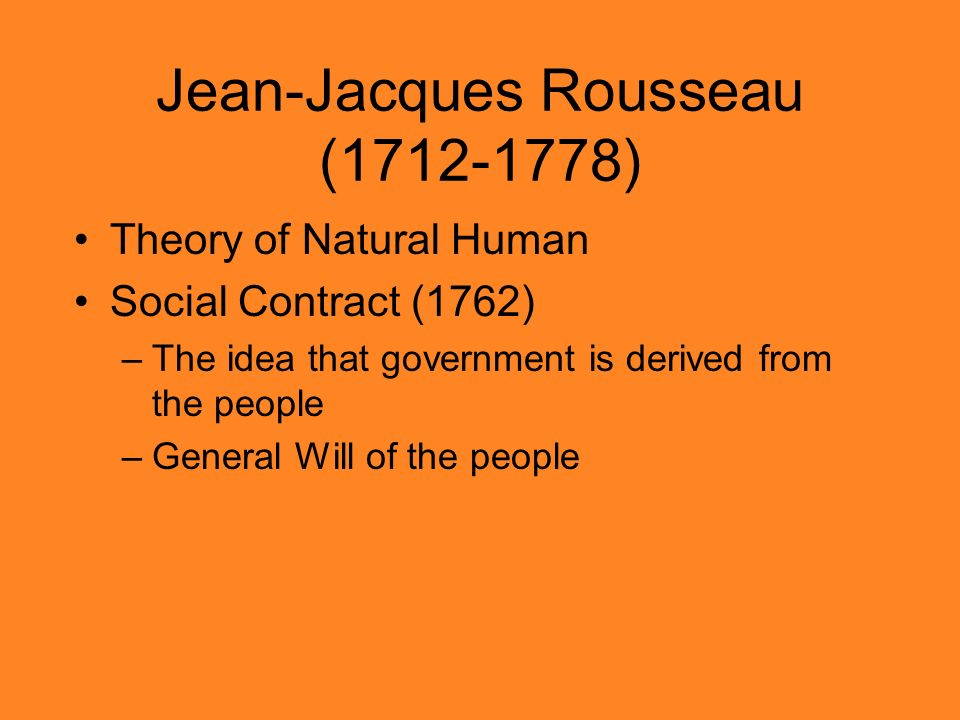 john locke ad jean jacques rousseaus idea of consent