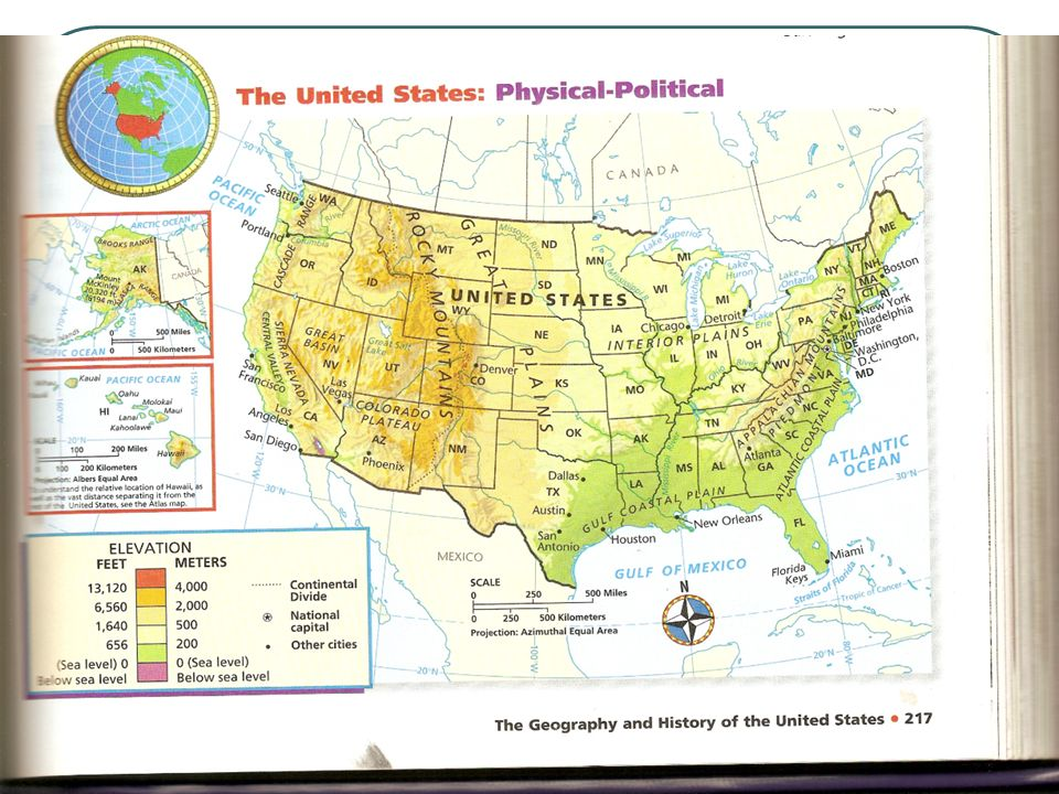The United States Chapter Th Grade Social Studies Ppt Download - Us map holt social studies