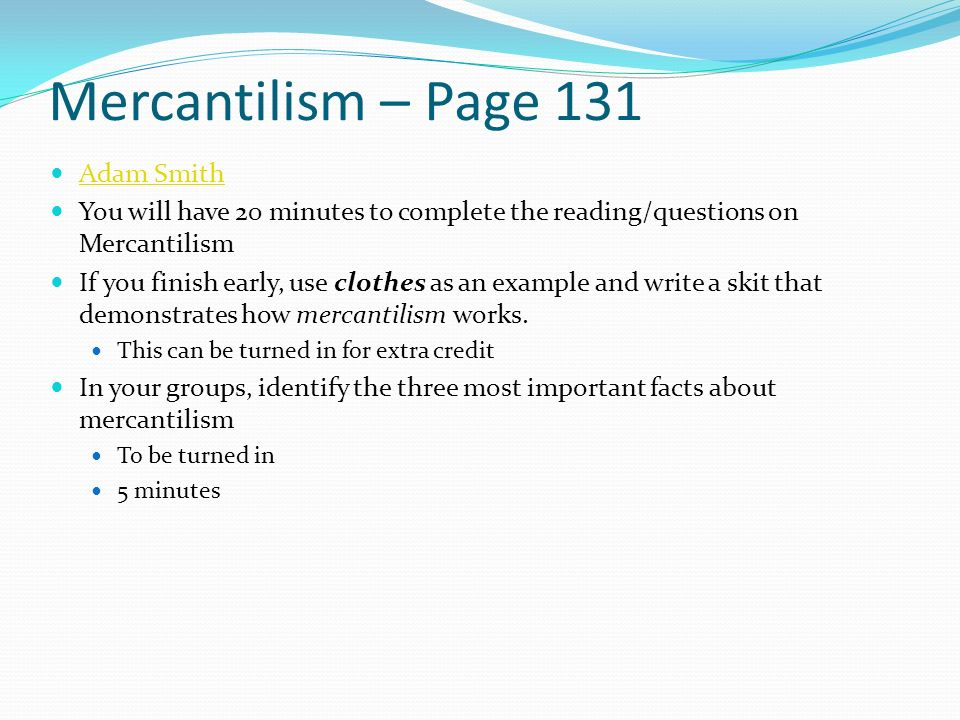 Mercantilism essay thesis