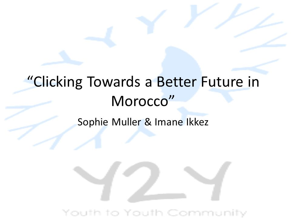 Clicking Towards a Better Future in Morocco Sophie Muller & Imane Ikkez