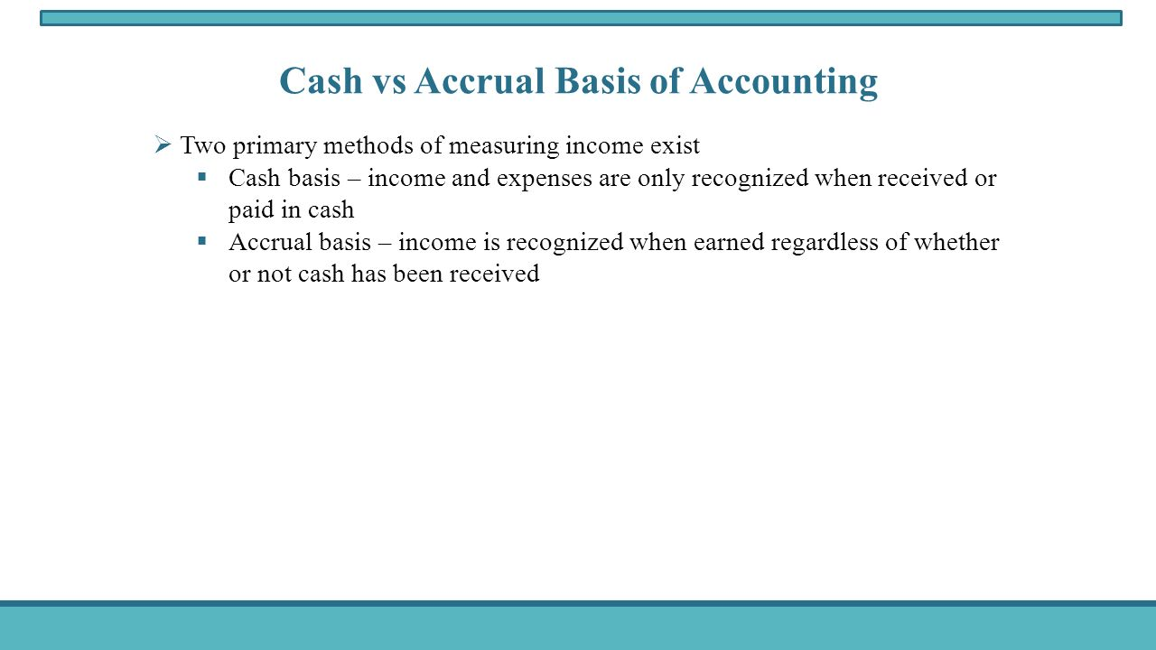brain teaser 4 cash basis or accrual basis is accrual accounting superior to cash basis Brain teaser 4: cash basis or accrual basis is accrual accounting superior to cash basis alicia: in the finance literature, there seems to be an emphasis on cash.