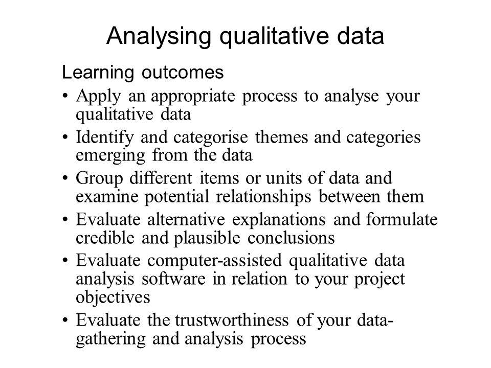 Dissertation Qualitative Data Analysis