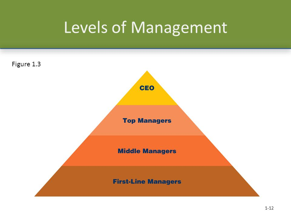 Levels of Management 1-12 Figure 1.3