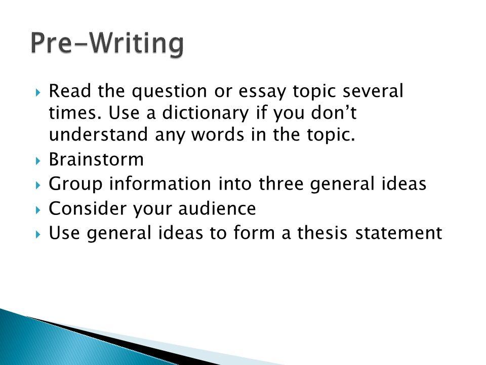 basic essay examples