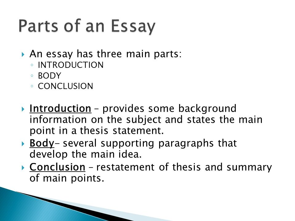 love essay include introduction body and conclusion How to end an essay argument's main ideas were will help you know what you need to include in the conclusion first sentences of each body.