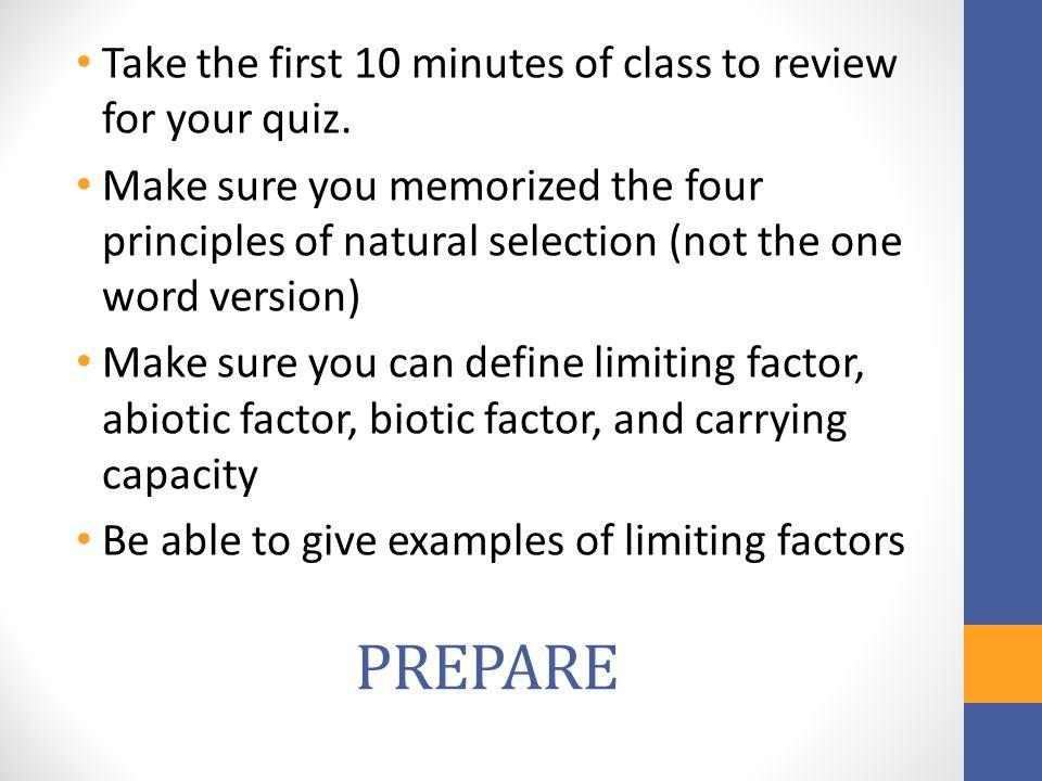 Limiting Factors Natural Selection Quiz Mr Perez Ppt Download