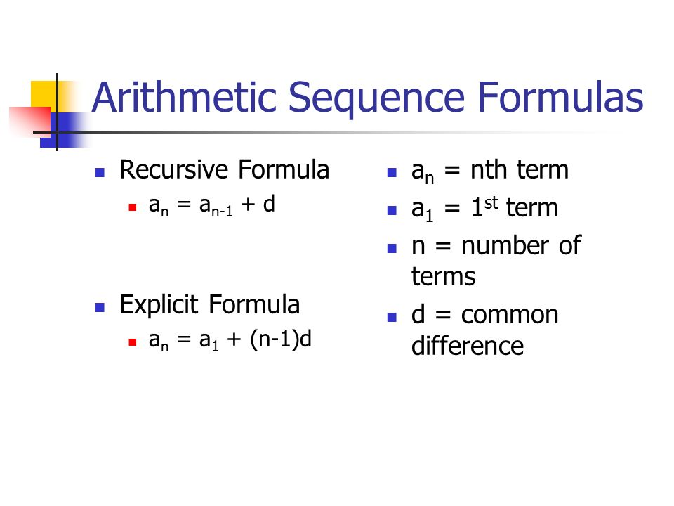 Equation For Arithmetic Sequence - Jennarocca