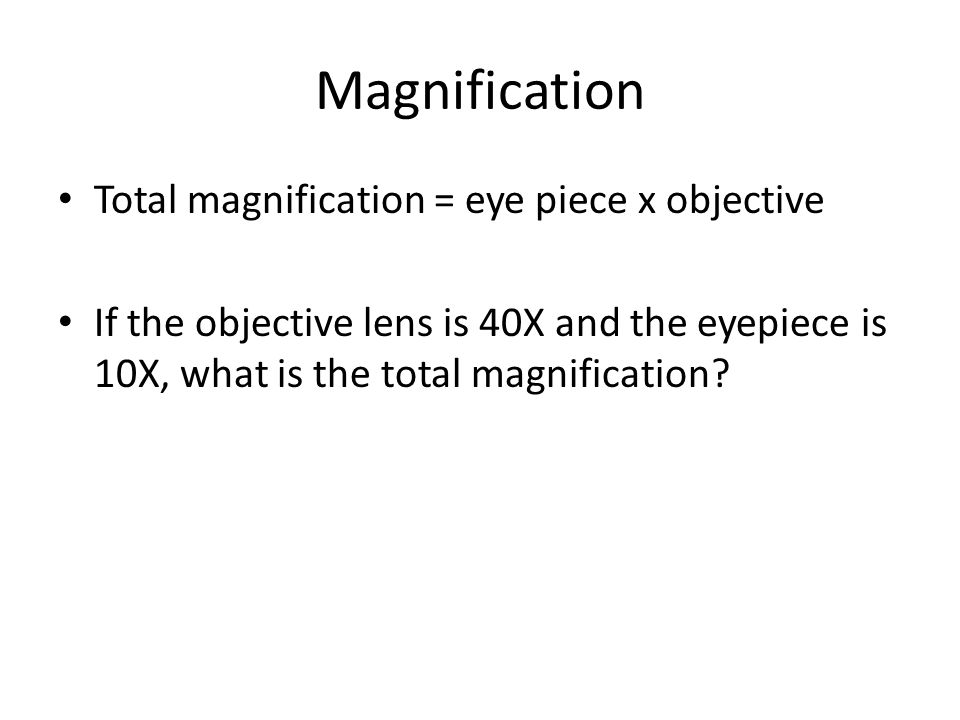 Unit 1 Review Cells and Systems. Microscope Magnification Total ...