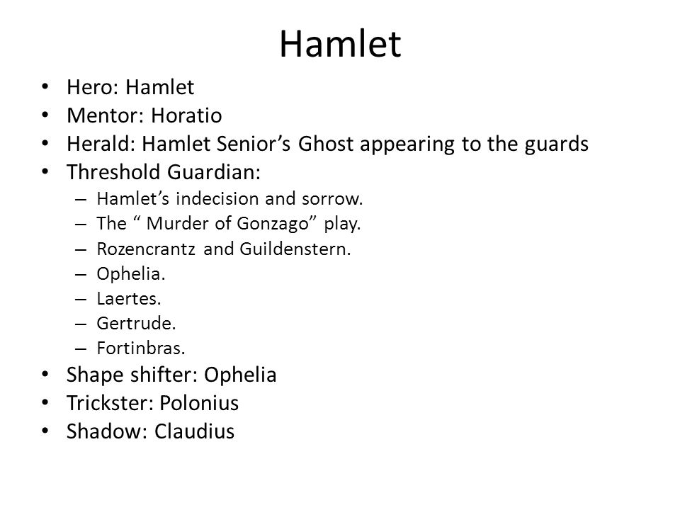 How does the monomyth apply to hamlet?