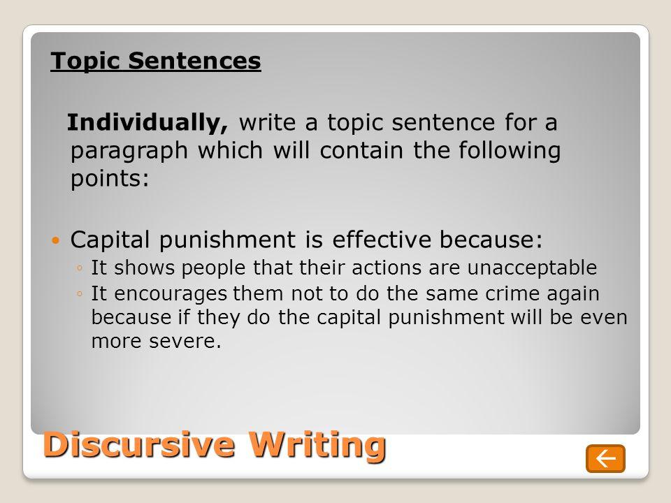 Discursive Essay Writing