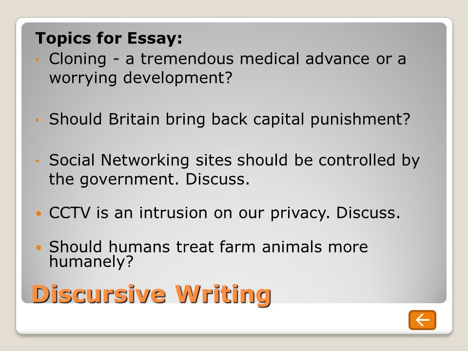discursive writing a guide to unit overview today s learning  discursive writing topics for essay cloning a tremendous medical advance or a worrying development